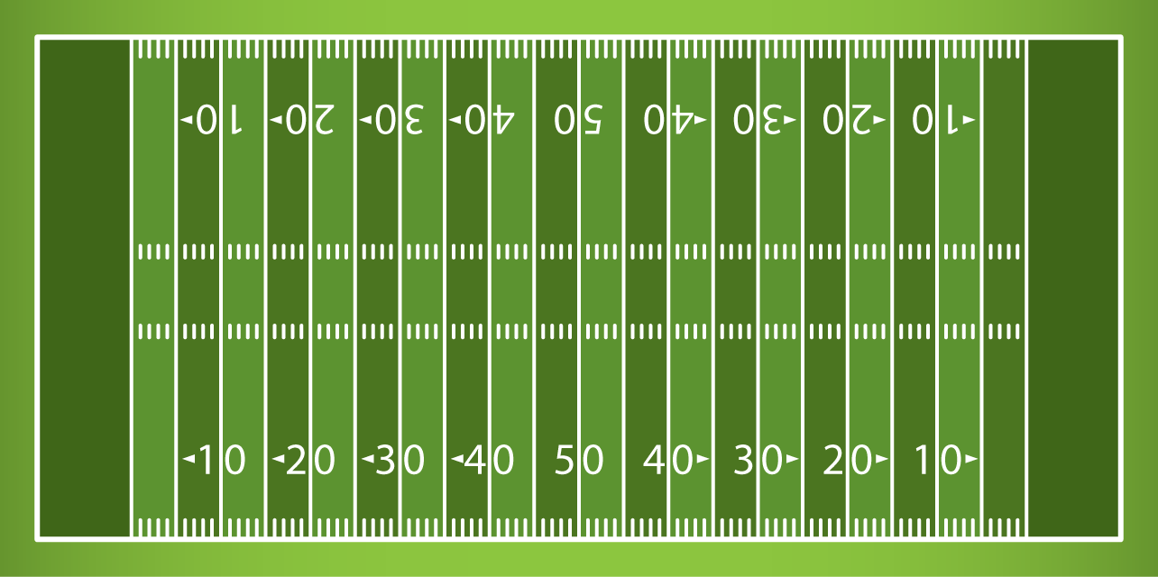 Playful image regarding printable football field