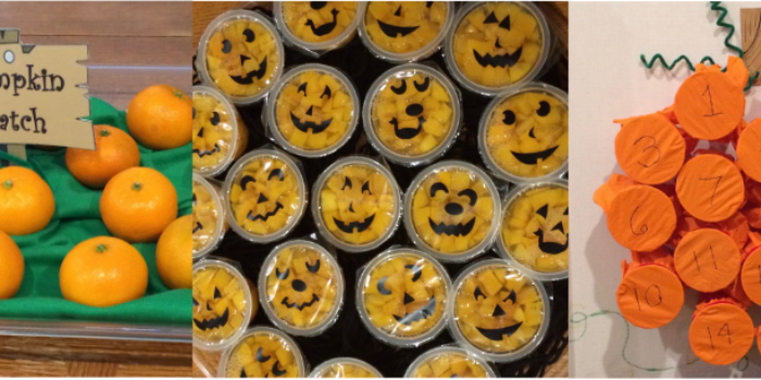 Preschool Halloween Games and Food