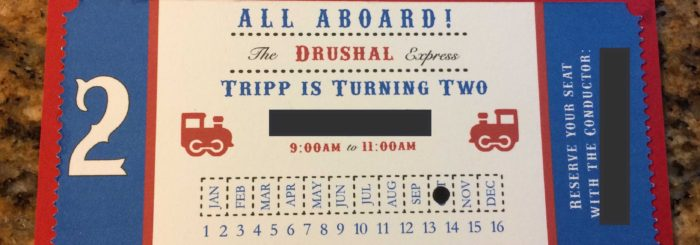 Train Ticket Invitation Defiantly Domestic