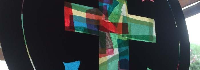Stained Glass Windows with Tissue Paper