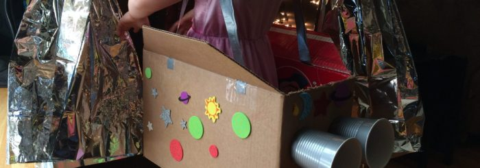 Cardboard Rocket Ships & Outerspace Tunnel
