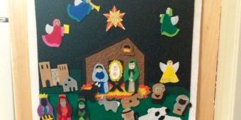 Felt Nativity Advent Calendar
